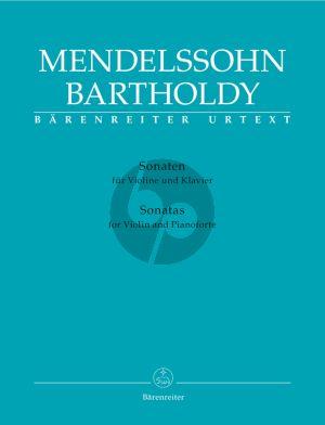 Mendelssohn Sonatas Violine and Piano (edited Hiromi Hoshino) (Barenreiter-Urtext)