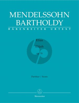 Mendelssohn Elias Op.70 Soli-Choir-Orchestra Score (germ./engl.) (edited by Douglass Seaton)