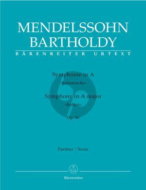 Mendelssohn Symphony No.4 Op.90 A-major (Italian) (Full Score) (edited by Christopher Hogwood)
