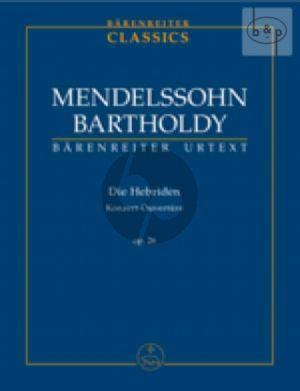 Die Hebriden Konzert-Ouverture Op.26 (Study Score)