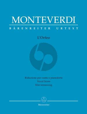 Monteverdi L'Orfeo Vocal Score (it.) (Favola in musica in one prologue and five acts) (edited by Rinaldo Alessandrini)