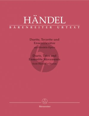 Handel Duets-Trios and Ensemble Movements from Handel's Operas for (2 - 3 Voices and Bc (ital.) (edited by Donald Burrows)