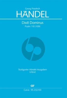 Handel Dixit Dominus HWV 232 Soli-Chor-Orch. Klavierauszug