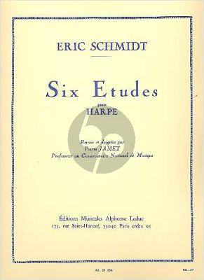 Schmidt 6 Etudes Harp (Jamet) (Grade 7)