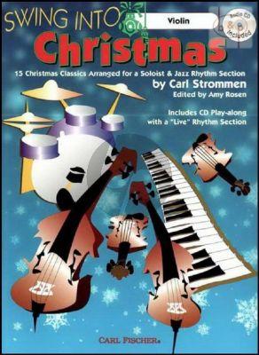 Swing into Christmas (15 Christmas Classics) (Violin) (Bk-Cd)