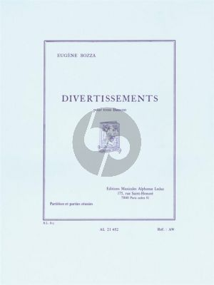 Bozza Divertissements 3 Bassoons (Score/Parts)