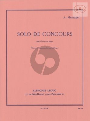 Solo de Concours for Clarinet and Piano
