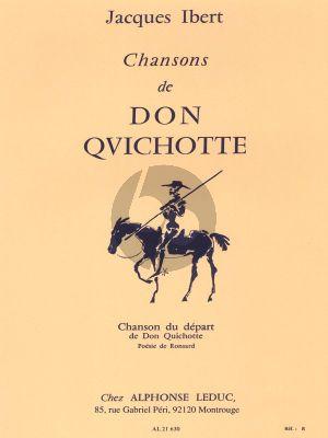 Ibert Chansons de Don Quichotte No.1 Chanson du Depart