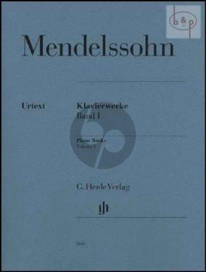 Klavierwerke Vol.1 (edited by Ullrich Scheideler Rudolf Elvers and Ernst Herttrich)