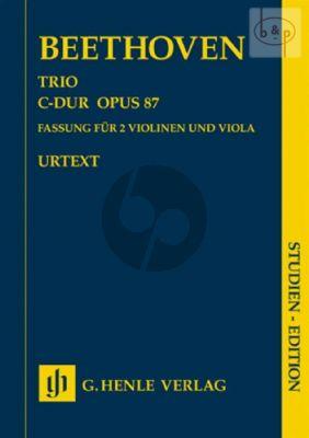 Trio C-major Op. 87 2 Violins and Viola Study Score