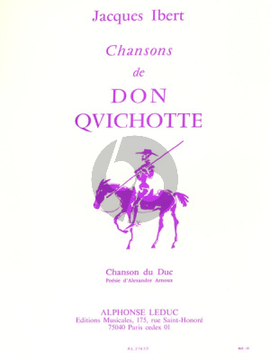 Ibert Chansons de Don Quichotte No.3 Chanson du Duc