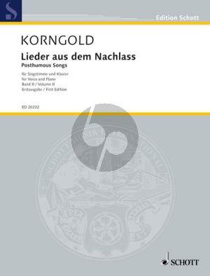 Korngold Lieder aus dem Nachlass Vol.2 (Medium Voice)