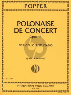 Popper Polonaise de Concert Op.14 Cello and Piano (edit.Jeffrey Solow)