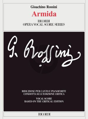 Rossini Armida Vocal Score (ital.) (critical edition) (edited by Brauner)