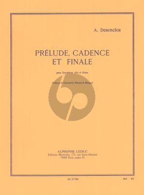 Desenclos Prelude,Cadence et Finale Saxophoe alto et Piano