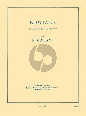Gabaye Boutade pour Trompette en C ou Bb et Piano
