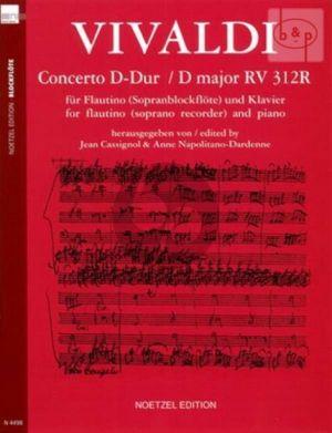 Concerto D-major RV 312R (Flautino/Soprano Rec.)