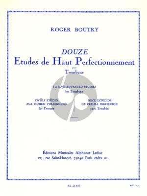 Boutry 12 Etudes de haut Perfectionnement Trombone