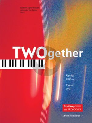 Monarth-Zabner TWOgether (14 Duos) Piano with Violin/Violonc./Flute/Alto Sax./Trumpet)