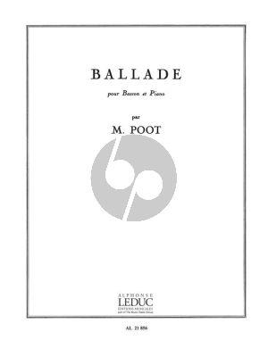 Poot Ballade pour Basson et Piano