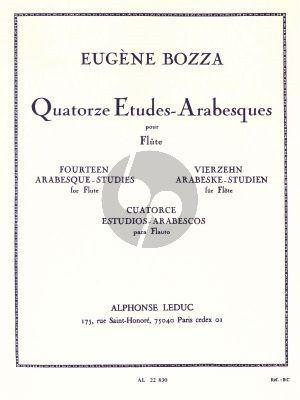 Bozza 14 Etudes Arabesques pour Flûte