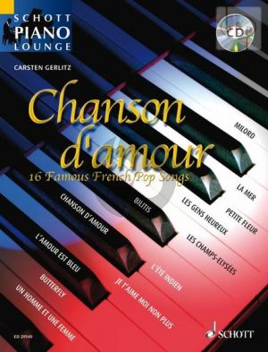 Chanson d'Amour for Piano (16 Famous French Pop Songs) (Book with Audio online) (arr. Carsten Gerlitz)