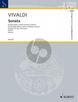 Vivaldi Sonata D-major RV 810 Flute[Oboe/Violin]-Bc) (edited by Nikolaus Delius)
