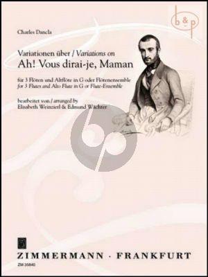 Variations on Ah! Vous dirai-je, Maman (3 Flutes-Alto Flute[G][Flute-Ensemble])