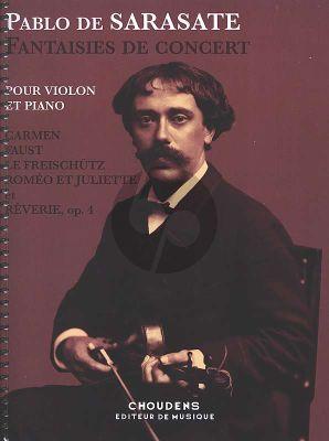 Sarasate Fantaisies de Concert Violon et Piano
