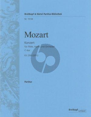 Mozart Konzert C-Dur KV 299 (297c) Flöte-Harfe und Orchester (Partitur) (András Adorján)