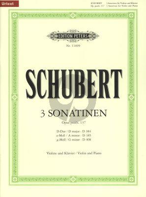 Schubert 3 Sonatinen Op. Posth. 137 Violin and Piano (edited by Klaus Burmeister) (Peters-Urtext)