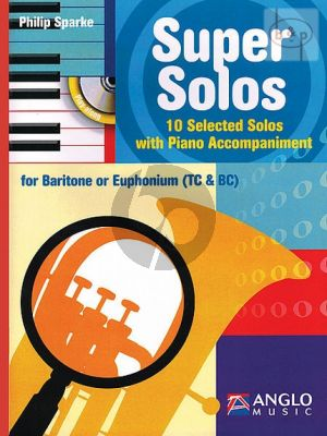 Super Solos (10 Selected Solos) (Barytone[Euph.] [TC/BC]-Piano)