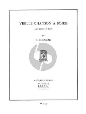 Goossens Vieille Chanson a Boire Basson et Piano