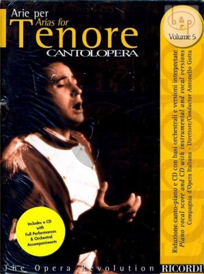 Arias for Tenor Vol.5 Voice-Piano