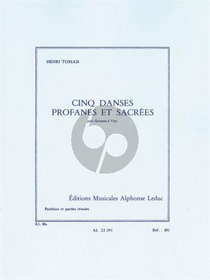 Tomasi 5 Danses Profanes et Sacrees Quintette a Vent (Score/Parts)