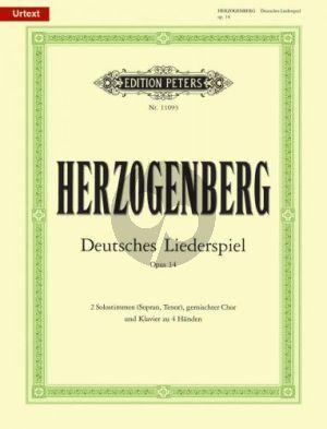 Herzogenberg Deutsches Liederspiel Op.14 ST Soli-SATBB-Piano 4 Hds