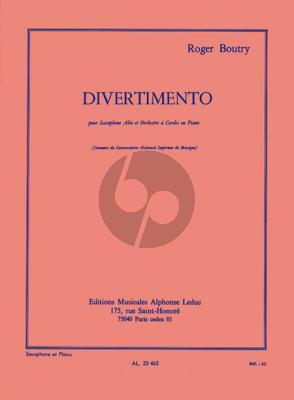 Boutry Divertimento (Alto Sax.-String Orch.) (piano red.)