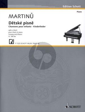 Martinu Chansons pour Enfants H.184 bis (edited by Eva Velicka) (fr./cz./germ.)