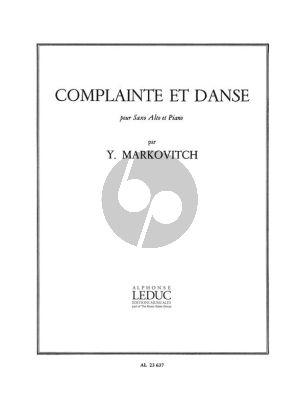Markovitch Complainte et Danse Saxophone alto et Piano