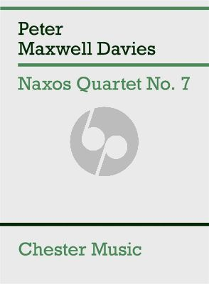 Maxwell Davies Naxos Quartet No. 7 String Quartet (Score)