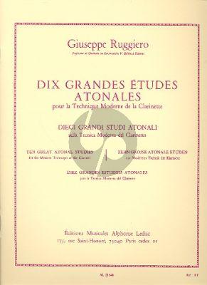 10 Grandes Etudes Atonales Pour La Technique Moderne de La Clarinette