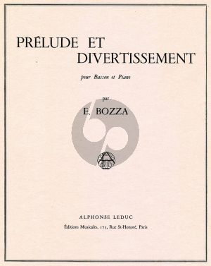 Bozza Prelude et Divertissement Basson et Piano
