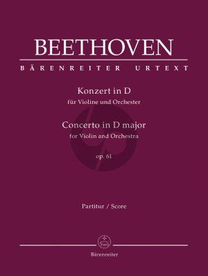 Konzert D-Dur Op.61 Violine und Orchester Partitur