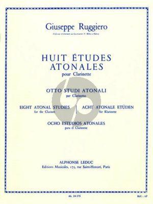 Ruggiero 8 Etudes Atonales Clarinette