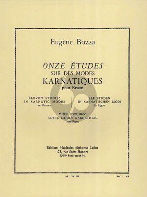 Bozza 11 Etudes sur des modes Karnatiques Basson (Gr.8)