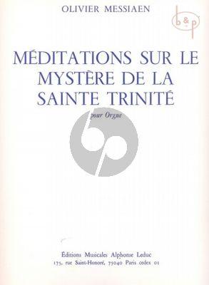 Messiaen Meditations sur le Mystere de la Sainte Trinite