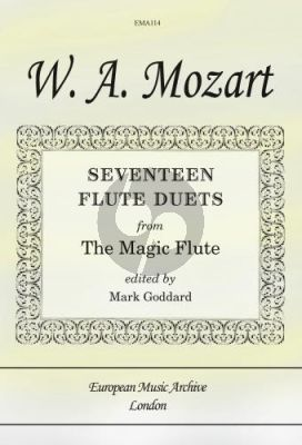 Mozart 17 Duets from The Magic Flute for 2 Flutes (arr. Mark Goddard)