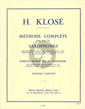 Klose Methode Complète pour tous les Saxophones (French/English)