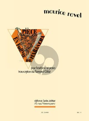 Ravel Piece en forme de Habanera Hautbois et Piano (Gillet Hautbois et transcription Cor Anglais par G.A.Leduc)
