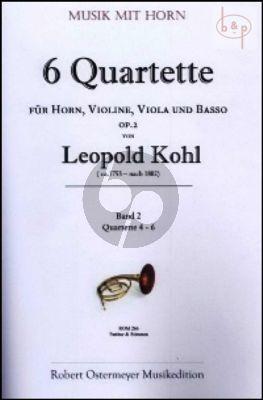 6 Quartets Op.2 Vol.2 (No.4 - 6) (Horn-Vi.-Va.-Bc)